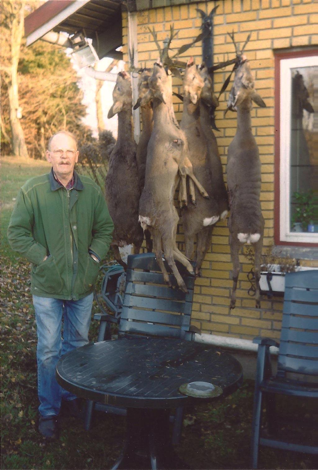 Pürschjagt i 2004, hvor Jørgen nedlagde 8 stk råvildt med sin M68 kaliber .243 Win i 8 skud