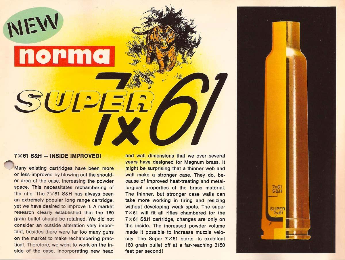Norma 7x61 Super, som kom efter 7x61 Sharpe and Hart